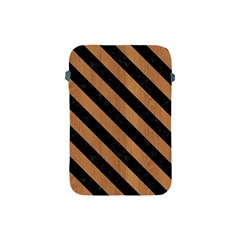 Stripes3 Black Marble & Light Maple Wood (r) Apple Ipad Mini Protective Soft Cases by trendistuff
