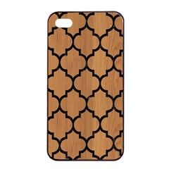 Tile1 Black Marble & Light Maple Wood (r) Apple Iphone 4/4s Seamless Case (black) by trendistuff