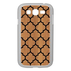 Tile1 Black Marble & Light Maple Wood (r) Samsung Galaxy Grand Duos I9082 Case (white)