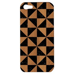 Triangle1 Black Marble & Light Maple Wood Apple Iphone 5 Hardshell Case by trendistuff