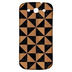 Triangle1 Black Marble & Light Maple Wood Samsung Galaxy S3 S Iii Classic Hardshell Back Case by trendistuff