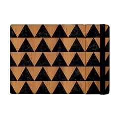 Triangle2 Black Marble & Light Maple Wood Apple Ipad Mini Flip Case by trendistuff