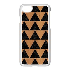 Triangle2 Black Marble & Light Maple Wood Apple Iphone 7 Seamless Case (white) by trendistuff