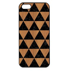 Triangle3 Black Marble & Light Maple Wood Apple Iphone 5 Seamless Case (black) by trendistuff