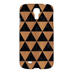 Triangle3 Black Marble & Light Maple Wood Samsung Galaxy S4 I9500/i9505 Hardshell Case by trendistuff