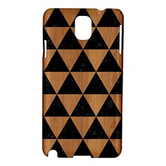 Triangle3 Black Marble & Light Maple Wood Samsung Galaxy Note 3 N9005 Hardshell Case by trendistuff