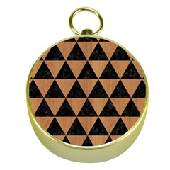 Triangle3 Black Marble & Light Maple Wood Gold Compasses by trendistuff
