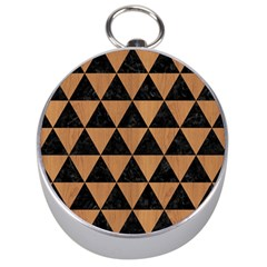 Triangle3 Black Marble & Light Maple Wood Silver Compasses by trendistuff