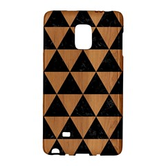 Triangle3 Black Marble & Light Maple Wood Galaxy Note Edge by trendistuff