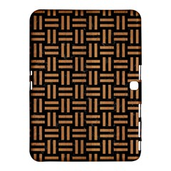 Woven1 Black Marble & Light Maple Wood Samsung Galaxy Tab 4 (10 1 ) Hardshell Case  by trendistuff