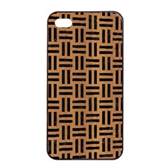 Woven1 Black Marble & Light Maple Wood (r) Apple Iphone 4/4s Seamless Case (black) by trendistuff