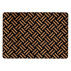 Woven2 Black Marble & Light Maple Wood Samsung Galaxy Tab 10 1  P7500 Flip Case by trendistuff