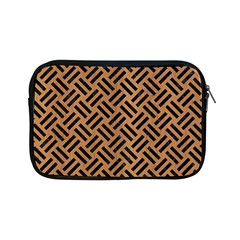 Woven2 Black Marble & Light Maple Wood (r) Apple Ipad Mini Zipper Cases by trendistuff