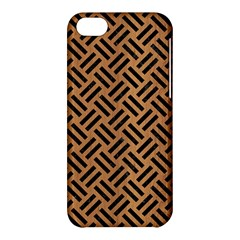 Woven2 Black Marble & Light Maple Wood (r) Apple Iphone 5c Hardshell Case by trendistuff