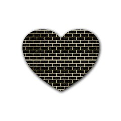 Brick1 Black Marble & Light Sand Heart Coaster (4 Pack)  by trendistuff