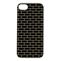 Brick1 Black Marble & Light Sand Apple Iphone 5s/ Se Hardshell Case by trendistuff