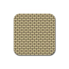 Brick1 Black Marble & Light Sand (r) Rubber Square Coaster (4 Pack)  by trendistuff