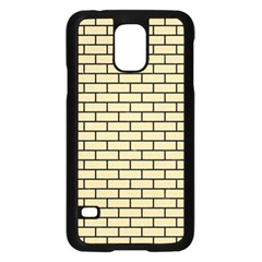 Brick1 Black Marble & Light Sand (r) Samsung Galaxy S5 Case (black) by trendistuff