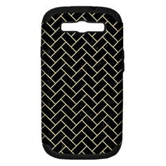 Brick2 Black Marble & Light Sand Samsung Galaxy S Iii Hardshell Case (pc+silicone) by trendistuff