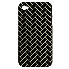 Brick2 Black Marble & Light Sand Apple Iphone 4/4s Hardshell Case (pc+silicone) by trendistuff