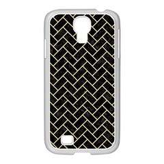 Brick2 Black Marble & Light Sand Samsung Galaxy S4 I9500/ I9505 Case (white) by trendistuff