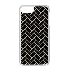 Brick2 Black Marble & Light Sand Apple Iphone 7 Plus White Seamless Case by trendistuff