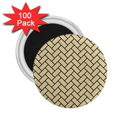 Brick2 Black Marble & Light Sand (r) 2 25  Magnets (100 Pack)  by trendistuff