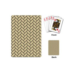 Brick2 Black Marble & Light Sand (r) Playing Cards (mini)  by trendistuff