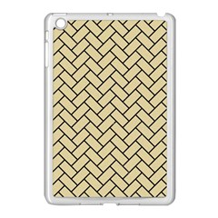 Brick2 Black Marble & Light Sand (r) Apple Ipad Mini Case (white) by trendistuff