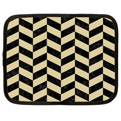 Chevron1 Black Marble & Light Sand Netbook Case (xxl)  by trendistuff