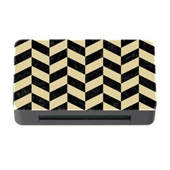Chevron1 Black Marble & Light Sand Memory Card Reader With Cf by trendistuff