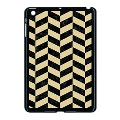 Chevron1 Black Marble & Light Sand Apple Ipad Mini Case (black) by trendistuff