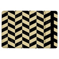 Chevron1 Black Marble & Light Sand Ipad Air Flip by trendistuff