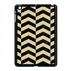 Chevron2 Black Marble & Light Sand Apple Ipad Mini Case (black) by trendistuff