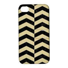Chevron2 Black Marble & Light Sand Apple Iphone 4/4s Hardshell Case With Stand by trendistuff
