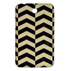 Chevron2 Black Marble & Light Sand Samsung Galaxy Tab 3 (7 ) P3200 Hardshell Case  by trendistuff