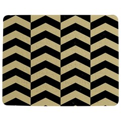 Chevron2 Black Marble & Light Sand Jigsaw Puzzle Photo Stand (rectangular) by trendistuff