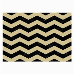 Chevron3 Black Marble & Light Sand Large Glasses Cloth by trendistuff