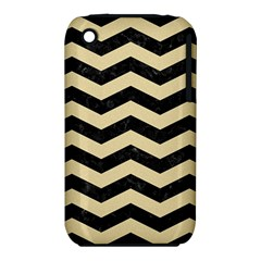 Chevron3 Black Marble & Light Sand Iphone 3s/3gs by trendistuff