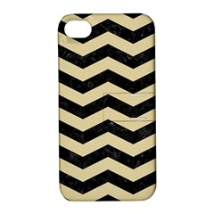 Chevron3 Black Marble & Light Sand Apple Iphone 4/4s Hardshell Case With Stand by trendistuff