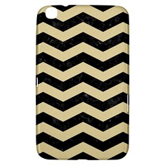 Chevron3 Black Marble & Light Sand Samsung Galaxy Tab 3 (8 ) T3100 Hardshell Case  by trendistuff
