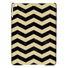 Chevron3 Black Marble & Light Sand Ipad Air Hardshell Cases by trendistuff