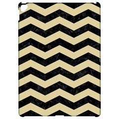 Chevron3 Black Marble & Light Sand Apple Ipad Pro 12 9   Hardshell Case by trendistuff