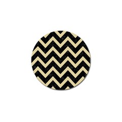Chevron9 Black Marble & Light Sand Golf Ball Marker (10 Pack) by trendistuff