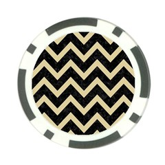 Chevron9 Black Marble & Light Sand Poker Chip Card Guard (10 Pack) by trendistuff