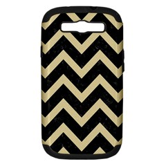 Chevron9 Black Marble & Light Sand Samsung Galaxy S Iii Hardshell Case (pc+silicone) by trendistuff