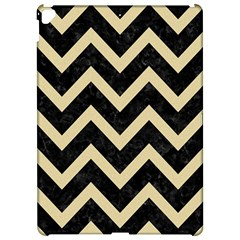 Chevron9 Black Marble & Light Sand Apple Ipad Pro 12 9   Hardshell Case by trendistuff