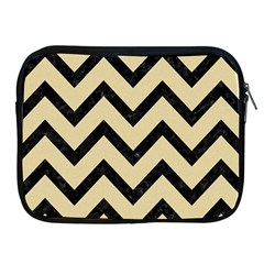 Chevron9 Black Marble & Light Sand (r) Apple Ipad 2/3/4 Zipper Cases by trendistuff