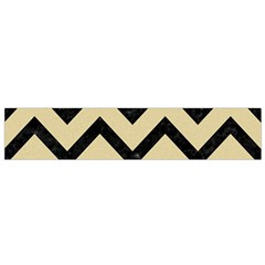 Chevron9 Black Marble & Light Sand (r) Flano Scarf (small) by trendistuff