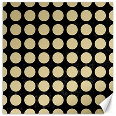Circles1 Black Marble & Light Sand Canvas 12  X 12   by trendistuff